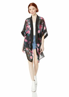 Steve Madden Women's Dusty Floral Kimono black