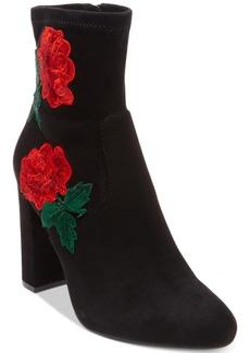 Steve Madden Women's Edition Sock Block-Heel Booties Women's Shoes