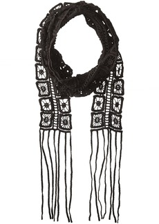 Steve Madden Women's Electric Soul Long and Skinny Scarf black
