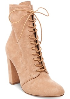 Steve Madden Women's Elley Lace-Up Block-Heel Booties Women's Shoes
