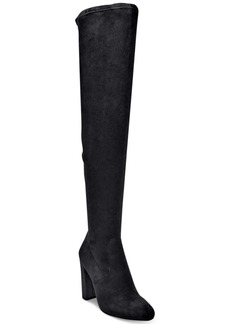Steve Madden Women's Glamour-v Velvet Over The Knee Boots Women's Shoes
