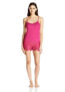 Steve Madden Women's Eyelash Lace Short Set
