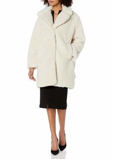Steve Madden Women's Faux Fur Fashion Jacket  L