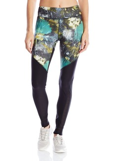 Steve Madden Women's Fearless Print Legging with Mesh Insets