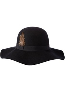 Steve Madden Women's Felt Floppy Hat with Feathered Band