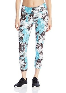 Steve Madden Women's Floral Print Tulip Back Shirred Crop Tight