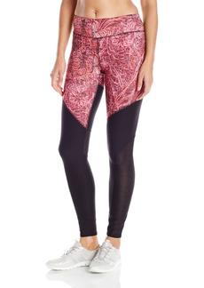 Steve Madden Women's Fractile Print Legging with Mesh Insets