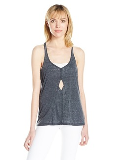 Steve Madden Women's Front Cut Out Strappy Burnout Tank  XS