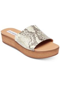 Steve Madden Women's Geneca Flatform Slide Sandals