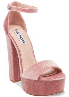 Steve Madden Women's Gonzo-v Velvet Platform Sandals