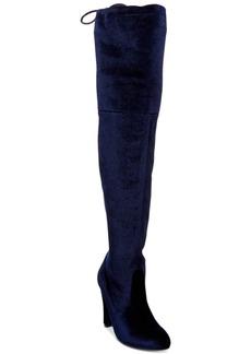 Steve Madden Women's Gorgeous Velvet Over-The-Knee Block-Heel Boots Women's Shoes