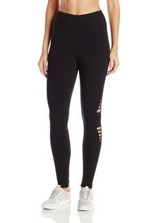 Steve Madden Women's High Waist Full Length Strappy Cutout Leggings  L
