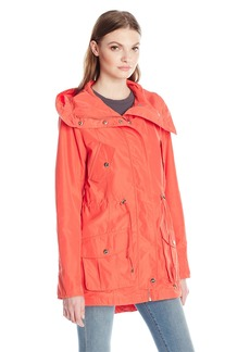 Steve Madden Women's Hooded Multi Pocket Anorak  S