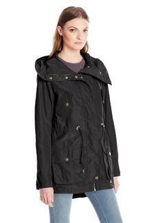 Steve Madden Women's Hooded Multi Pocket Anorak  M