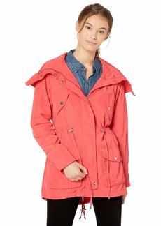 Steve Madden Women's Hooded Multi Pocket Anorak Coral IAFKD S
