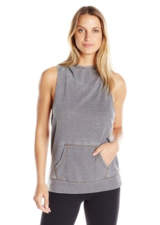 Steve Madden Women's Hooded Pullover Vest with Crisscross Back Detail