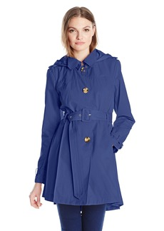 Steve Madden Women's Hooded Trench Coat