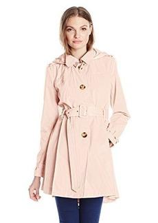 Steve Madden Women's Hooded Trench Coat