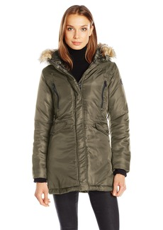 Steve Madden Women's Insulated Parka Jacket Olive IAFDC S