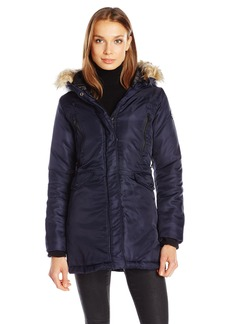Steve Madden Women's Insulated Parka with Hood  M
