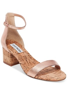 Steve Madden Women's Irenee Two-Piece Cork Block-Heel Sandals