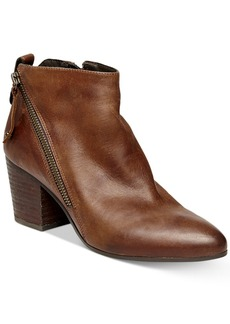 Steve Madden Women's Jaydun Zipper Block-Heel Booties Women's Shoes