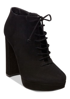 Steve Madden Women's Jolte Lace-Up Platform Block-Heel Booties Women's Shoes