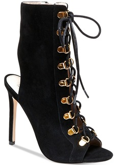 Steve Madden Women's Kennee Lace-Up Peep-Toe Booties Women's Shoes