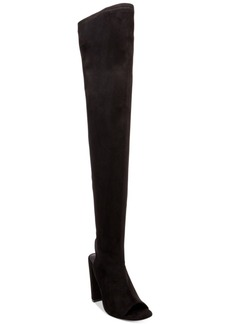 Steve Madden Women's Kimmi Peep-Toe Over-The-Knee Boots Women's Shoes
