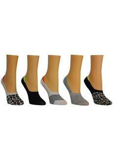 Steve Madden Women's Leopard Foot Liner Socks, Pack of 5