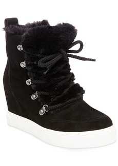 Steve Madden Women's Lift Lace-Up Wedge Sneakers Women's Shoes