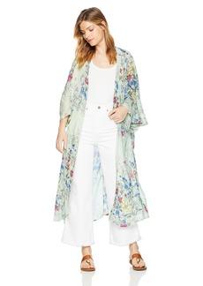 Steve Madden Women's Linear Floral Duster Kimono Accessory