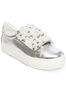 Steve Madden Women's Lion Pearl Embellished Sneakers