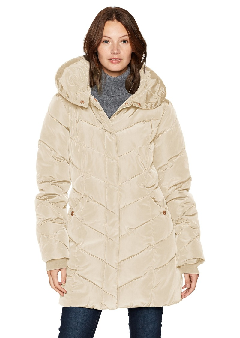 Steve Madden Women's Long Heavy Weight Puffer Jacket
