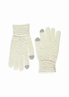 Steve Madden Women's Lurex Zig Zag i-Touch Gloves