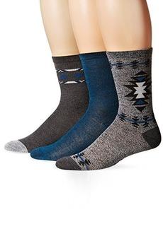 Steve Madden Women's Marled Stripe Crew Socks 3-Pack