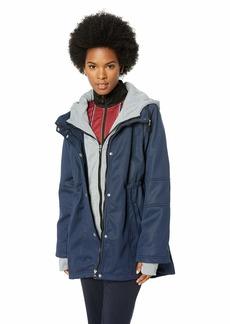 Steve Madden Women's Mesh Bonded Softshell Jacket Navy XL