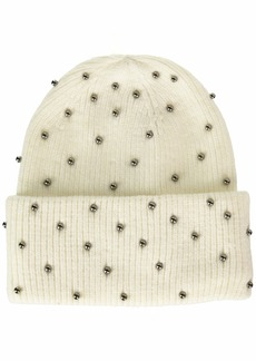 Steve Madden Women's Metallic Pearls Hat  ONE Size