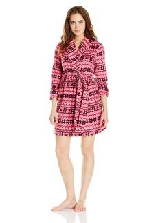 Steve Madden Women's Microfleece Shawl Robe