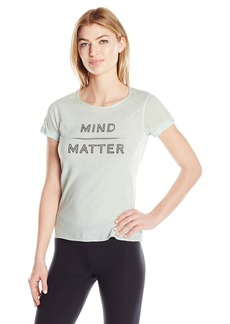 Steve Madden Women's Mind Over Matter Relaxed Rolled Sleeve Graphic Tee  M
