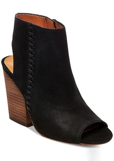 Steve Madden Women's Mingle Peep-Toe Block-Heel Booties Women's Shoes