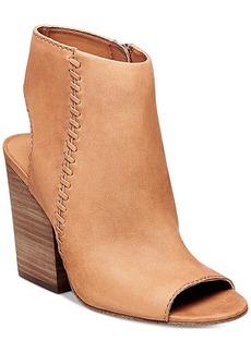 Steve Madden Women's Mingle Peep-Toe Block-Heel Booties Women's Shoes