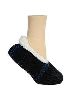 Steve Madden Women's Mixed Media with Lurex Lounge Slipper Sock, Online Only