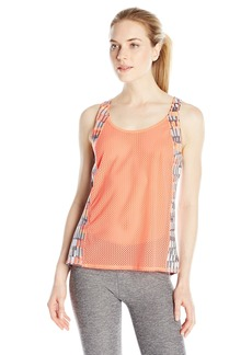 Steve Madden Women's Mixed Print Tank with Mesh