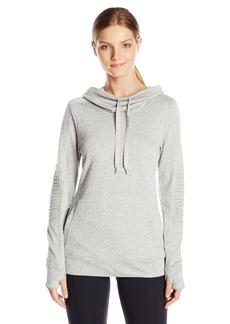 Steve Madden Women's Moto French Terry Funnel Neck Pullover