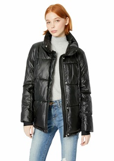Steve Madden Women's Moto Jacket Zippers with Bandages Black L