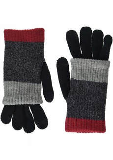 Steve Madden Women's Multi Stripe Purl Knit iTouch Glove red ONE SIZE