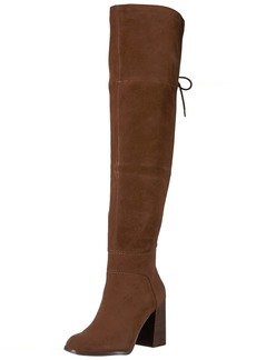 Steve Madden Women's Novela Riding Boot tan Suede
