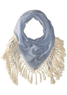 Steve Madden Women's Oversized Cotton Tassel Scarf