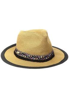 Steve Madden Women's Panama Hat with Braid Detail